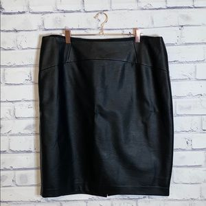 "The Limited Sexy & Savvy ""leather"" pencil skirt"